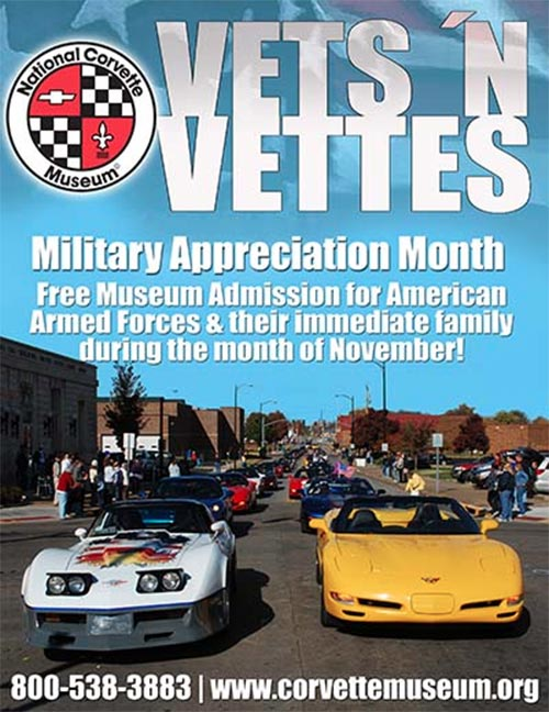 Corvette Museum Celebrates Vets and Vettes with Military Appreciation Month