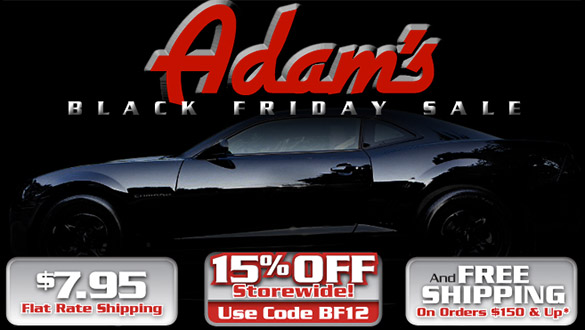 Adam's Polishes' Black Friday Sale - Save 15% Storewide!