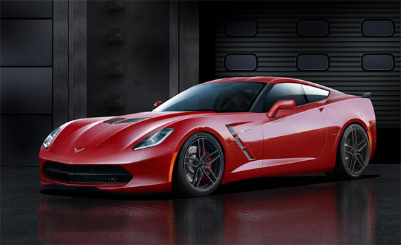 Car and Driver's C7 Corvette Illustration