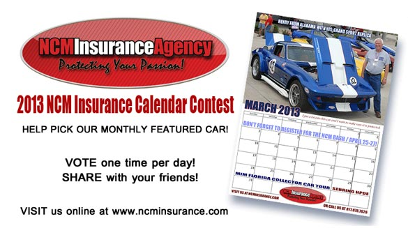 Help the NCM Insurance Agency Pick The Corvettes for their 2013 Calendar