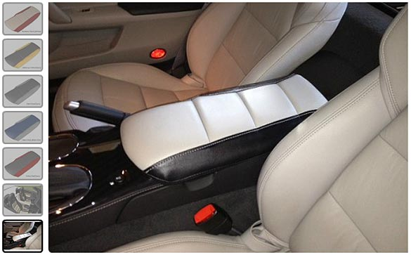 2 Tone C6 Corvette Leather Console Cushions