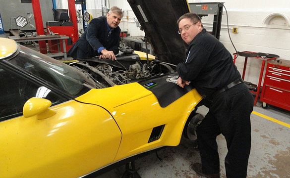 Vietnam Veteran Lends His Corvette to a High School Shop Class