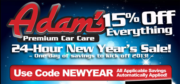 Ring in the New Year with Adam's 24 Hour New Year's Sale!