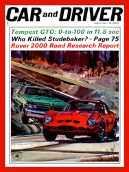 Car& Driver March 1964 Issue GTO vs GTO