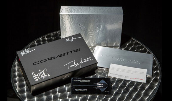 Chevrolet is Auctioning the #0001 C7 Corvette Press Kit for Charity