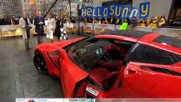 [VIDEO] The 2014 Corvette Stingray Says Good Morning on the Today Show