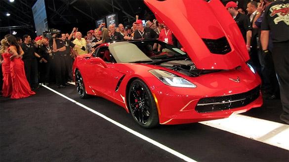 First Retail VIN 2014 Corvette Stingray Sells for $1.05 Million At Barrett-Jackson
