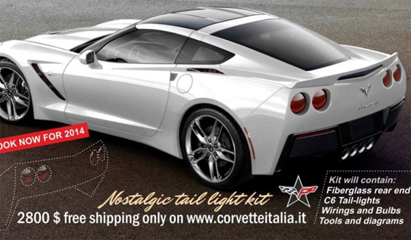 Retro Rear End Kit Brings Nostalgic Round Tail Lights to 2014 Corvette Stingray