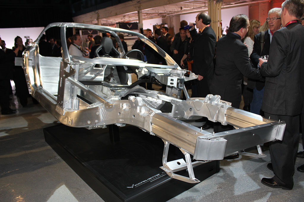 2014 Corvette Stingrays Aluminum Frame Provides Weight