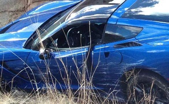 [PIC] 2014 Corvette Stingray Coupe Crashes in Arizona
