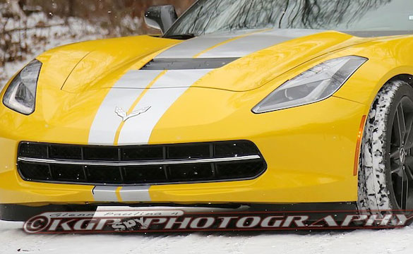 SPIED: 2014 Corvette Stingray with Full Body Racing Stripes