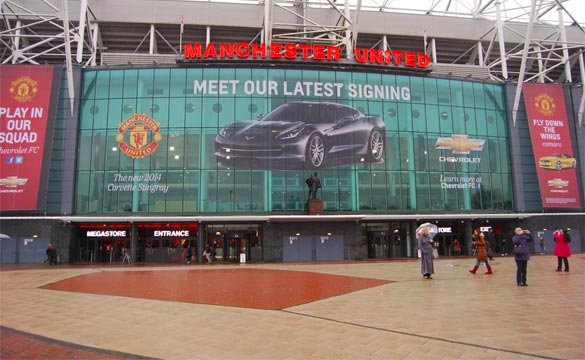 Manchester United Unveils Corvette Stingray Signage on Old Trafford Stadium