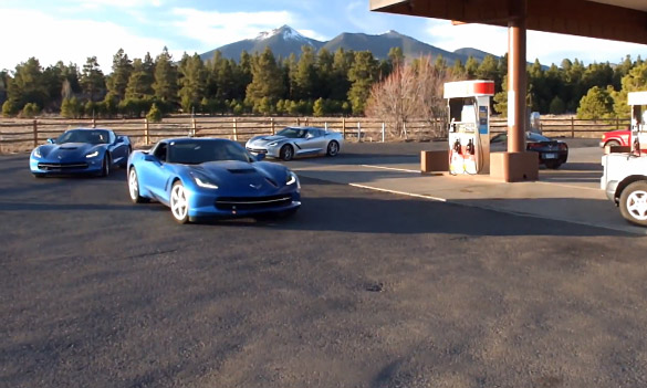 [VIDEOS] C7 Corvette Stingrays Testing on the Open Roads