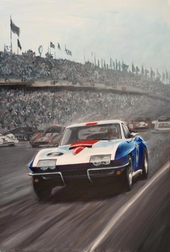 1967 Corvette Le Mans Racer Serves as Inspiration for Monterey Reunion Poster