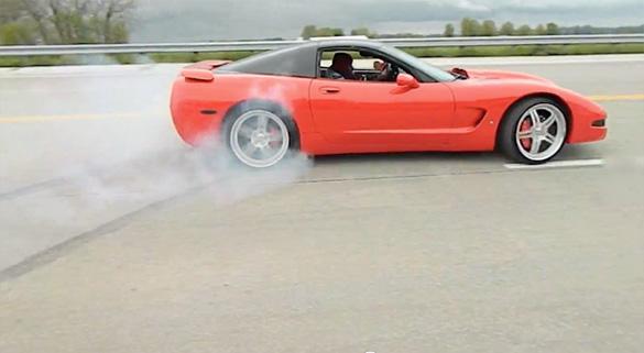 [VIDEO] Corvette Fail: That's a Hit and Run Baby!