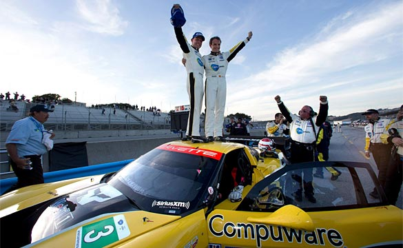The No.3 Compuware Corvette C6.R with Magnussen, Garcia Wins at ALMS Lagnua Seca