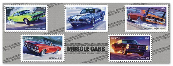 USPS Commemorates Muscle Cars at Mecum's Indy Auction