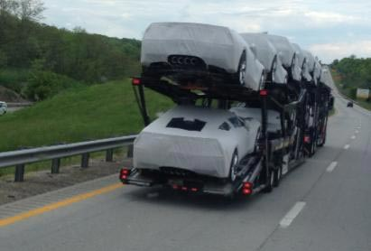 [PIC] C7 Corvette Stingrays on an Auto Transport