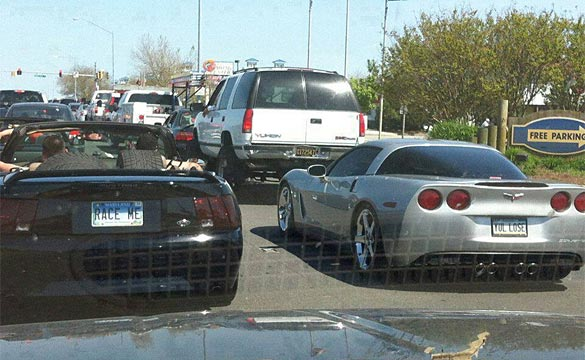 [VANITY PLATES] Seriously, what are the odds that bring this Mustang and Corvette together?