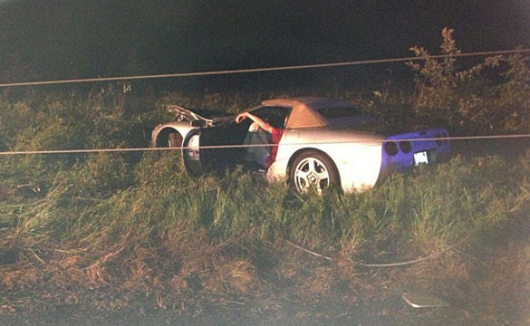 [ACCIDENT] Mans Buys a C5 Corvette, Crashes into Power Line Pole