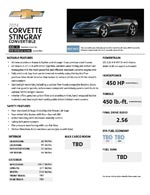 More GM Docs Suggests 2014 Corvette Stingray Coupe to have 455 HP and 460 lb.-ft Torque