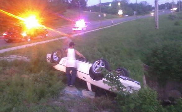 [ACCIDENT] C4 Corvette Rollover in Illinois