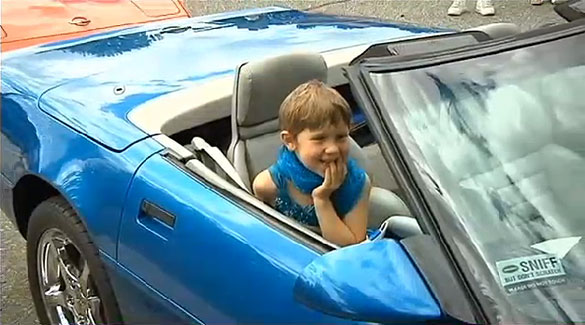 Make-A-Wish Foundation Fulfills 6 Year Old Cancer Survivor's Dream to Ride in a Corvette