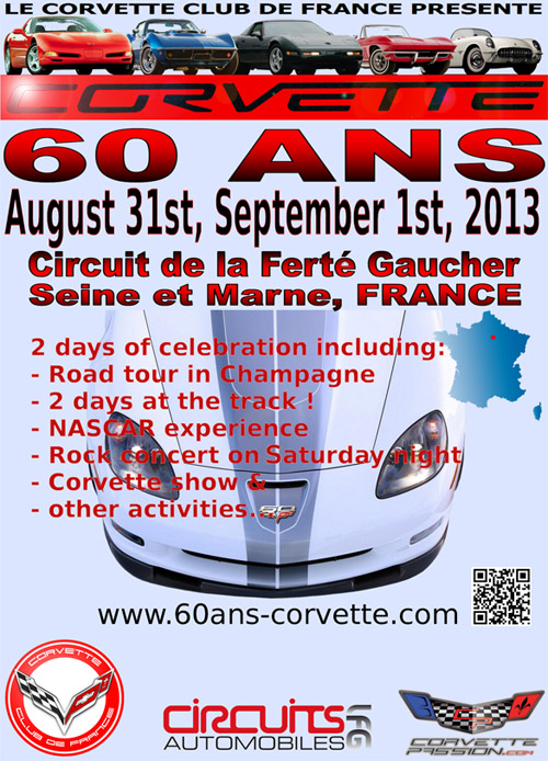 French Corvette Club to Celebrate Corvette's 60th Anniversary
