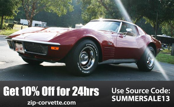 Zip Corvette Offers 10% Off During the First Day of Summer Sale