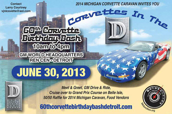 Celebrate Corvette's 60th Birthday at GM's Headquarters in Detroit