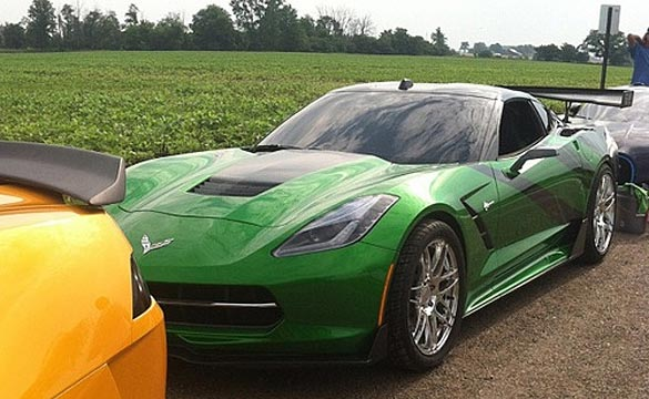 [PIC] 2014 Corvette Stingray Spotted in Michigan on the Set of Transformers 4