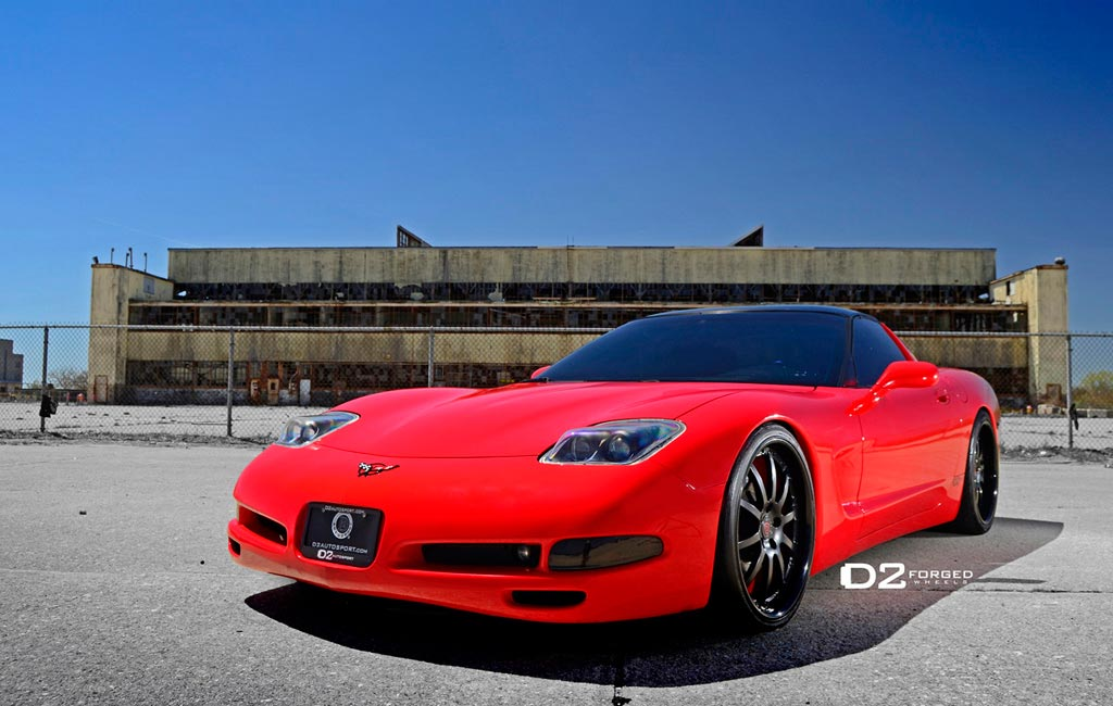 Red C5 Corvette On D2forged Fms05 Wheels Corvetteforum
