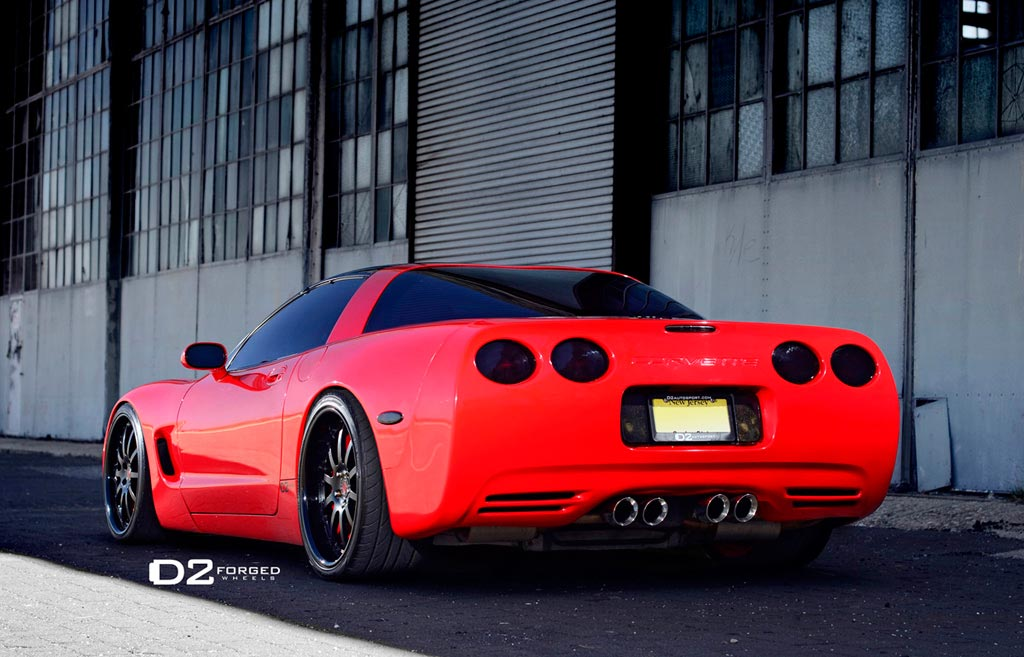 Pics Red C5 Corvette On D2forged Fms05 Wheels Pinnacle