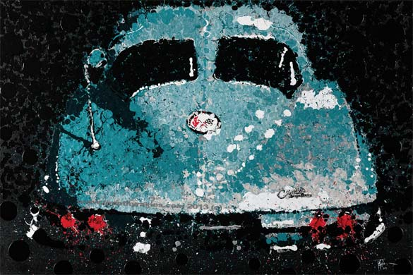 Buy This Artwork for $150,000 and Get a Free 1963 Corvette Split-Window Coupe