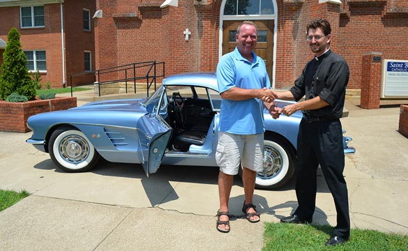 [VIDEO] Winner of the Saint Bernard Classic Corvette Giveaway Picks Up his 1960 Corvette