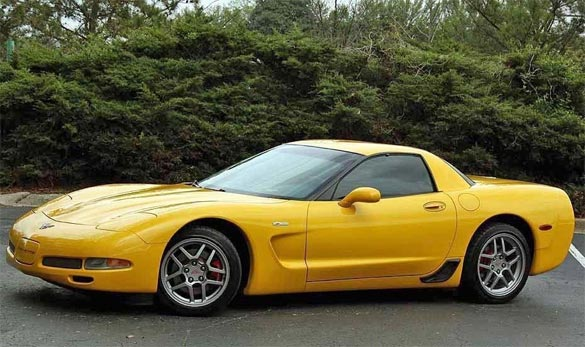 Thieves Steal a 2003 Yellow Corvette in Virginia