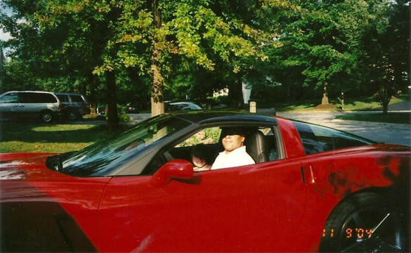 Sept 11th 2004-My daughter Samantha and I in my new 2005 Precision Red Corvette. She is in College now.