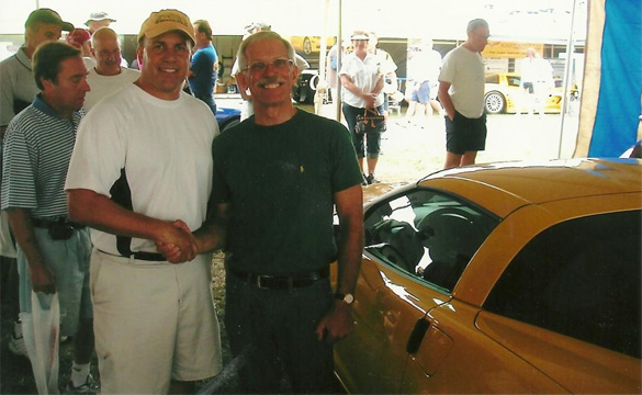 Dave Hill and I with the all new 2006 Z06 behind us.