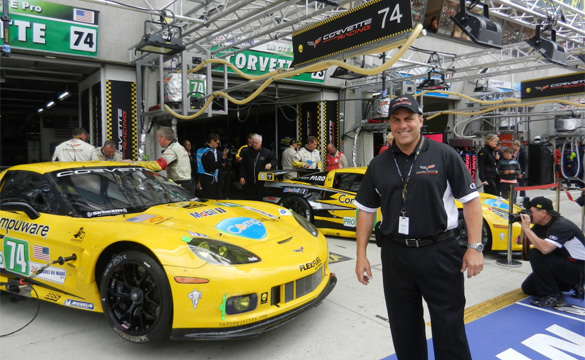 With the Corvette Racing team at the 24 Hours of Le Mans