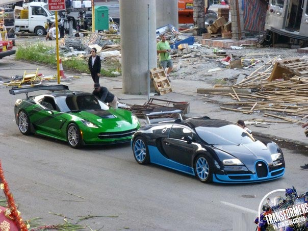 transformers 39 c7 corvette stingrays spotted on the set in detroit corve. Cars Review. Best American Auto & Cars Review