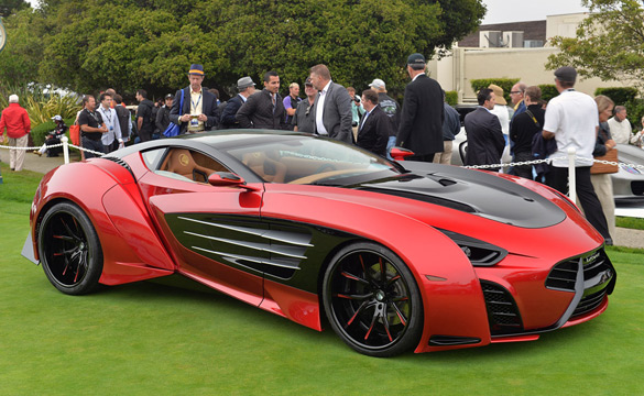 Corvette-Powered Laraki Motors Epitome Concept at Pebble Beach 2013
