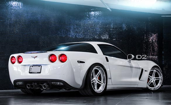 [PICS] White Corvette Z06 on D2FORGED CV3-LP Lightweight Wheels