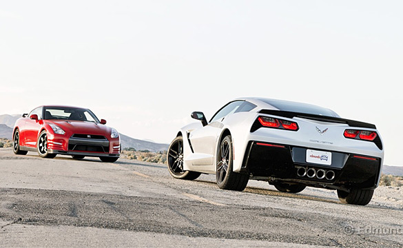 Edmunds Compares 2014 Chevy Corvette Stingray Z51 vs. 2014 Nissan GT-R Track Edition