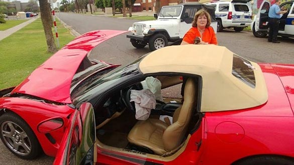 [ACCIDENT] Arizona County Official's Red C5 Corvette Damaged in Crash