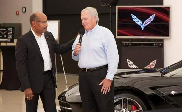 Rick Hendrick Picks Up First Production 2014 Corvette Stin