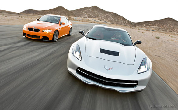 Edmunds Tests the C7 Corvette Stingray vs 2013 BMW M3 Coupe