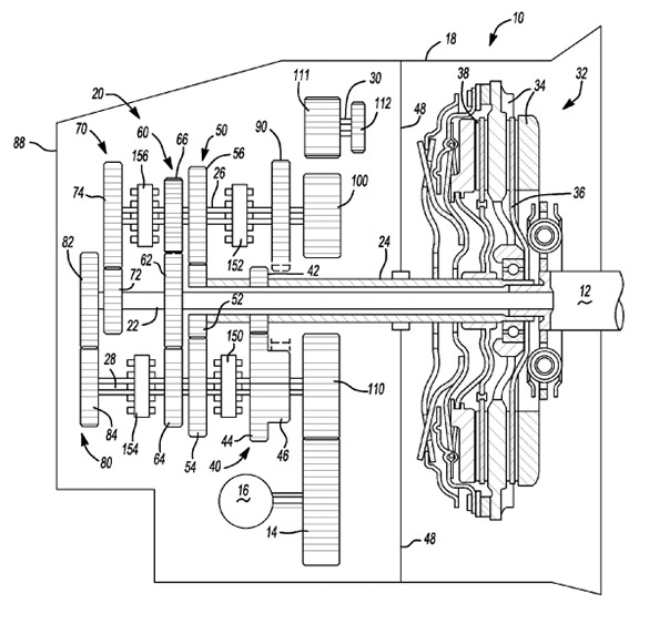 GM Files Patent for 7 Speed, Dual Clutch Transmission