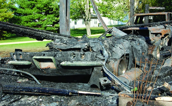 Fire Claims A 1962 Corvette That Owner Treasured for Four Decades
