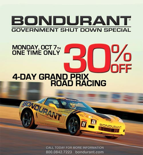 Bondurant Offering 30% Discount on 4-Day Grand Prix Road Racing Course