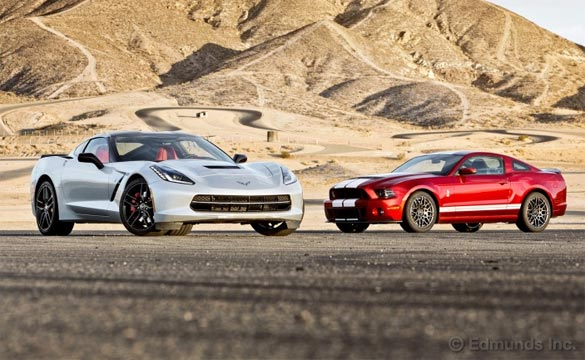 Edmunds Tests the C7 Corvette Stingray vs 2014 Ford Shelby GT500